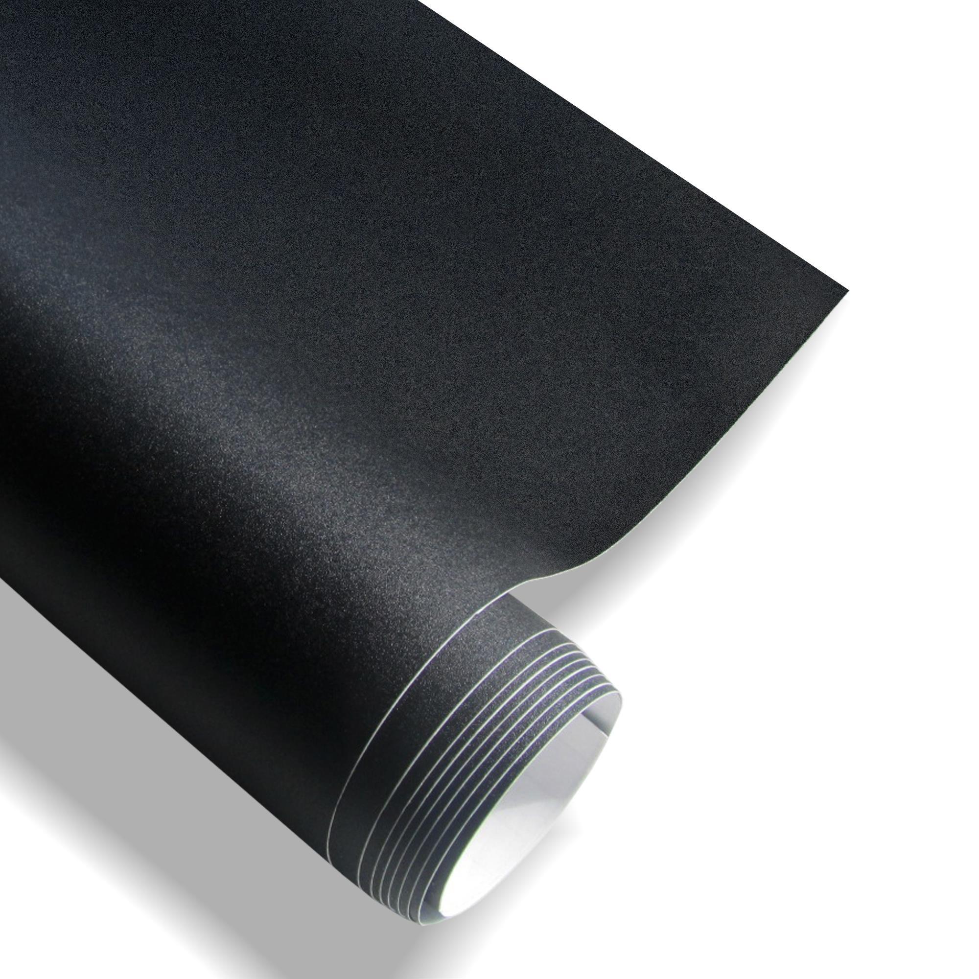 premium autofolie schwarz mit glitzer effekt pvc 152x200cm selbstklebend ebay. Black Bedroom Furniture Sets. Home Design Ideas